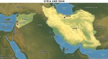 Iran-Syria on the map