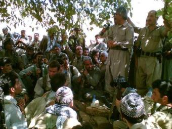 Mustafa Hejri with KDPI forces