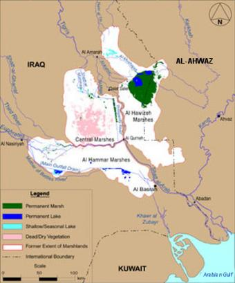 The Hawr Al-Azim marsh is facing the same fate as the Iraqi marshes