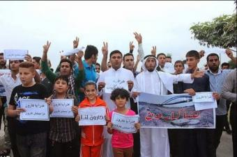 Ahwazi Arabs protest on the banks of the Karoun River. Source: Save Karoun